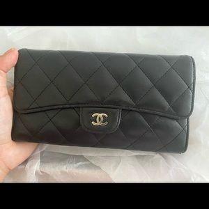 Chanel lambskin wallet/purse